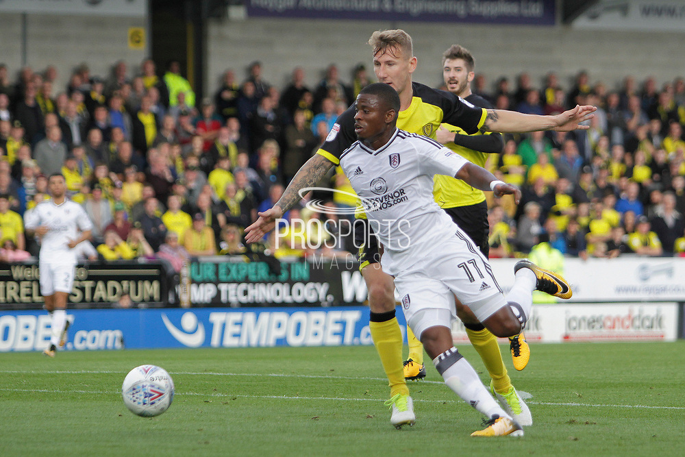 Fulham midfielder Floyd Ayite (11) during the EFL Sky Bet Championship match between Burton Albion and Fulham at the Pirelli Stadium, Burton upon Trent, England on 16 September 2017. Photo by Richard Holmes.