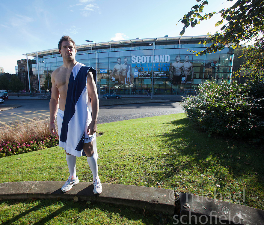 Rugby star Sean Lamont promotes Scotland's EMC Tests in November against New Zealand, South Africa and Tonga, at the The Omni Centre, Greenside Place, Edinburgh..©Michael Schofield.