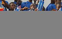 Photo: Steve Bond/Richard Lane Photography.<br />Ghana v Namibia. Africa Cup of Nations. 24/01/2008. Michael Essien fan club