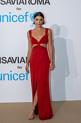 Bambi Northwood Blyth arriving at a photocall for the Unicef Summer Gala Presented by Luisaviaroma at Villa Violina on August 10, 2018 in Porto Cervo, Italy. Photo by Alessandro Tocco/ABACAPRESS.COM