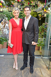 Natalie Rushdie and Zafar Rushdie at The Ivy Chelsea Garden Summer Party ,The Ivy Chelsea Garden, King's Road, London, England. 14 May 2019. <br /> <br /> ***For fees please contact us prior to publication***
