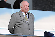 FA Chairman Greg Dyke watches on from the stands. Barclays Premier league match, Swansea city v Norwich city at the Liberty Stadium in Swansea, South Wales on Saturday 5th March 2016.<br /> pic by  Carl Robertson, Andrew Orchard sports photography.