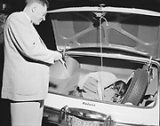 """Y-560716-01""""Trunk suicide. July 16, 1956"""" (According to the Oregonian, July 17, 1956, pg. 11: """"Dentist Dies in Car Trunk. Clues Indicate Man Suicide. Dr.Sam A. Bojinoff, 47, 3275 N.E. Stanton street, a dentist, was found dead Monday night in the trunk of his car parked in the 3400 block of N. E. 27th Ave. Police said preliminary investigation indicated Dr. Bojinoff committed suicide. A small bottle of pills was found near the body. A rope, apparently used to shut the trunk lid, was found attached to a brake on the inside of the lid. One end of the rope was tied around the brace and the other end secured around the dentist's hand. Police said Dr. Bojinoff had been reported missing Sunday by his wife.""""). """"Trunk suicide. July 16, 1956"""""""