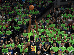 December 16, 2017 - Minneapolis, MN, USA - The Minnesota Timberwolves' Jimmy Butler (23) misses a 3-point shot attempt under the defense of Phoenix Suns guard Troy Daniels (30) in the second half on Saturday, Dec. 16, 2017, at Target Center in Minneapolis. The Suns won, 108-106. (Credit Image: © Aaron Lavinsky/TNS via ZUMA Wire)