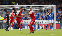 Danny Andrew of Fleetwood Town celebrates scoring his sides third goal of the game - Mandatory by-line: Joe Dent/JMP - 03/08/2019 - FOOTBALL - Weston Homes Stadium - Peterborough, England - Peterborough United v Fleetwood Town - Sky Bet League One
