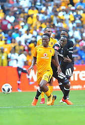 Kaiser Chiefs player Philani Zulu and Orlando Pirates player Justin Shonga battle for the ballduring the Soweto derby at the FNB Stadium. Johannesburg.; Picture: Itumeleng English/ African News Agency /ANA<br />Picture: Itumeleng English/ African News Agency /ANA