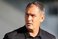 Swansea city manager Paul Clement looks on prior to kick off. Pre-season friendly match, Barnet v Swansea city at the Hive in London on Wednesday 12th July 2017.<br /> pic by Steffan Bowen, Andrew Orchard sports photography.