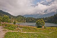 Golzern, Switzerland - panoramic view of the Golzernsee.