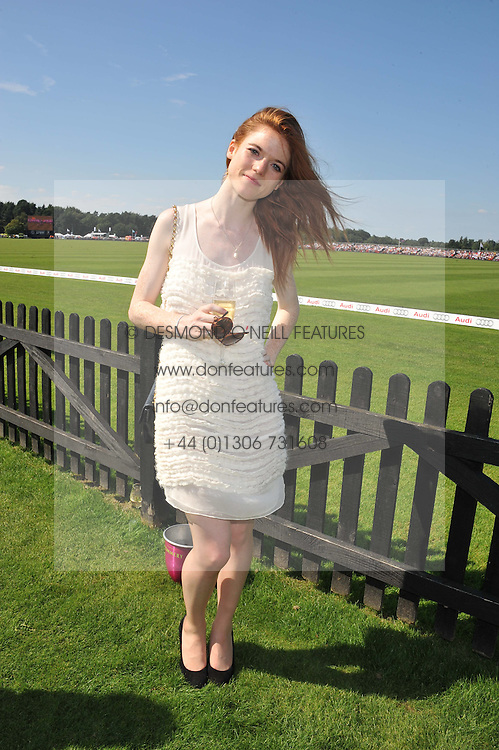 Actress ROSE LESLIE at the Audi International Polo Day held at Guards Polo Club, Smith's Lawn, Windsor on 22nd July 2012.