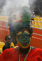 Photo: Steve Bond/Richard Lane Photography.<br />Ghana v Guinea. Africa Cup of Nations. 20/01/2008. Ghana fan with burning pot on head