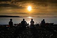Kajaktur runt Bynäset en lugn och varm kväll i augusti tillsammans med Ellinor, Anna, Kjell och Christer