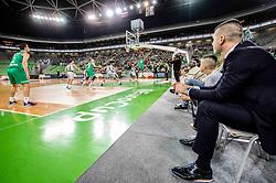 Sani Becirovic of Cedevita Olimpija during basketball match between teams KK Cedevita Olimpija and Germani Brescia in Round #7 of EuroCup 2019/20, on November 19, 2019, in Arena Stozice, Ljubljana, Slovenia. Photo by Vid Ponikvar / Sportida