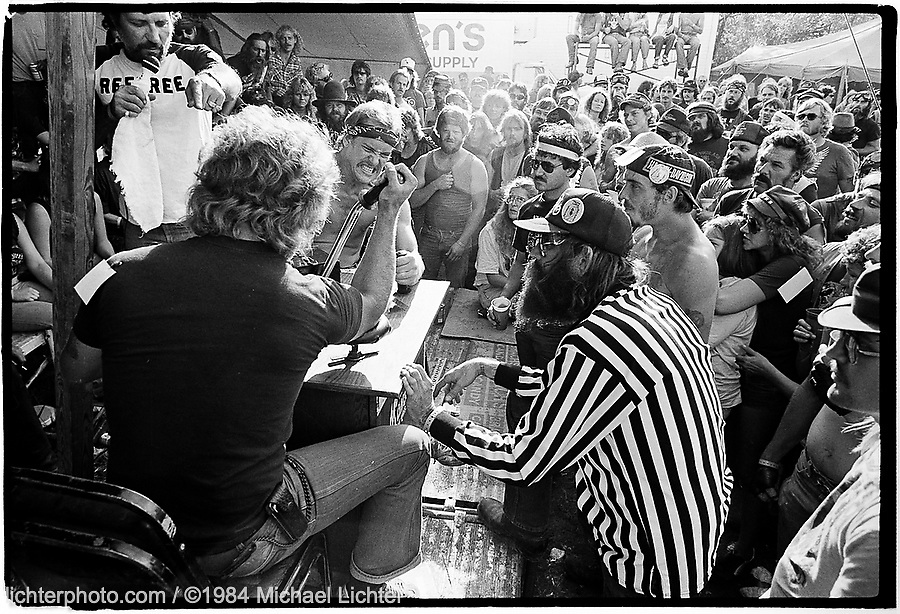 Monster Wrestling. Lake Perry, KS. 1984<br /> <br /> Limited Edition Print from an edition of 30. Photo ©1984 Michael Lichter.