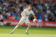 Jack Cork of Swansea city in action. Barclays Premier league match, Swansea city v Manchester city at the Liberty Stadium in Swansea, South Wales on Sunday 15th May 2016.<br /> pic by Andrew Orchard, Andrew Orchard sports photography.