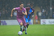 Harrison McGahey during the EFL Sky Bet League 1 match between Scunthorpe United and Rochdale at Glanford Park, Scunthorpe, England on 8 September 2018.
