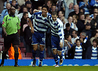 Photo: Olly Greenwood.<br />West Ham United v Reading. The Barclays Premiership. 01/10/2006. Reading's Seol Ki-Hyeon celebrates scoring