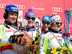 20.03.2011, Pista Silvano Beltrametti, Lenzerheide, SUI, FIS Ski Worldcup, Finale, Lenzerheide, NATIONEN TEAM EVENT, im Bild F elix Neureuther (GER), Maria Riesch (GER), Susanne Riesch (GER), Viktoria Rebensburg (GER) // Felix Neureuther (GER), Maria Riesch (GER), Susanne Riesch (GER), Viktoria Rebensburg (GER)  during Nations Team Event, at Pista Silvano Beltrametti, in Lenzerheide, Switzerland, 20/03/2011, EXPA Pictures © 2011, PhotoCredit: EXPA/ J. Feichter