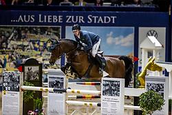 HASSMANN Felix (GER), SIG Captain America<br /> Grand Prix von Volkswagen<br /> Int. jumping competition over two rounds (1.55 m) - CSI3*<br /> Comp. counts for the LONGINES Rankings<br /> Braunschweig - Classico 2020<br /> 08. März 2020<br /> © www.sportfotos-lafrentz.de/Stefan Lafrentz