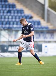 Falkirk's Alex Cooper celebrates after scoring their third goal.<br /> Falkirk 6 v 0 Cowdenbeath, Scottish Championship game played at The Falkirk Stadium, 25/10/2014.