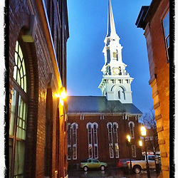 """The North Church in Market Square, Portsmouth, New Hampshire. iPhone photo - file is appropriate for print reproduction up to 8"""" x 12""""."""