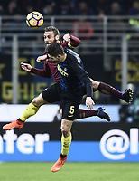 Daniele De Rossi Roma, Roberto Gagliardini Inter <br /> Milano 26-02-2017 Football Calcio serie A 2016/2017 Inter - AS Roma foto Image Sport/Insidefoto
