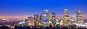 Panoramic Photo Of Downtown Los Angeles Skyline