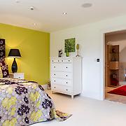 Green double bedroom.