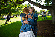 Colgate freshmen and their families arrive on campus during the First-Year Students Arrival Day, August 25, 2019.<br /> Mark DiOrio / Colgate University