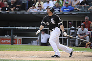 CHICAGO - JULY 10:  Carlos Quentin #20 of the Chicago White Sox bats against the Minnesota Twins on July 10, 2011 at U.S. Cellular Field in Chicago, Illinois.  The Twins defeated the White Sox 6-3.  (Photo by Ron Vesely)  Subject: Carlos Quentin
