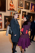 BRADY DOTY; ANNA CONDO, George Condo: Mental States. Hayward Gallery. Southbank Rd. London. 17 October 2011. <br /> <br />  , -DO NOT ARCHIVE-© Copyright Photograph by Dafydd Jones. 248 Clapham Rd. London SW9 0PZ. Tel 0207 820 0771. www.dafjones.com.