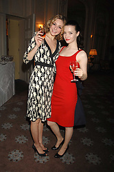 Left to right, actress TAMSIN EGERTON and actress TALULAH RILEY at a party to celebrate the publication of Top Tips For Girls by Kate Reardon held at Claridge's, Brook Street, London on 28th January 2008.<br />