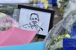 A simple tribute amongst the flowers (c) Simon Kimber   SportPix.org.uk
