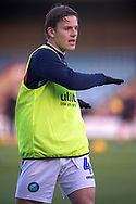 Wycombe Wanderers midfielder Dominic Gape (4) as he warms up for the EFL Sky Bet League 1 match between Scunthorpe United and Wycombe Wanderers at Glanford Park, Scunthorpe, England on 29 December 2018.