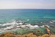 The Mediterranean coast at Apolonia National Park, Herzelia, Israel