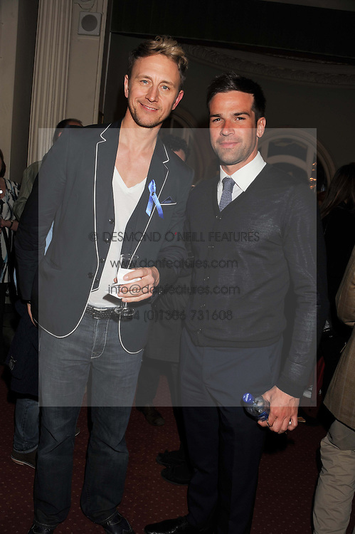 Left to right, dancer IAN WAITE and TV presenter GETHIN JONES at an after show party following the 1st preview show of the new show Top Hat in aid of the charity Starlight held at the Aldwych Theatre, London on 19th April 2012.
