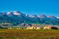 Kirghizistan, province de Naryn, Koshoi Korgon, ancienne citadelle en ruine // Kyrgyzstan, Naryn province, Koshoi Korgon, ancient citadel