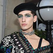 Fashionista attend Fashion Scout - SS19 - London Fashion Week - Day 3, London, UK. 16 September 2018.