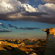 A person could get incredibly lost wandering around New Mexico's Bisti Badlands. Every turn brings you to new formations and new directions to turn. There are no paths to follow. GPS highly recommended!
