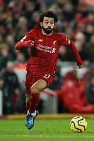 Football - 2019 / 2020 Premier League - Liverpool vs. Southampton<br /> <br /> Liverpool's Mohamed Salah in action during todays match  <br /> <br /> Colorsport / Terry Donnelly