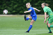 Southern United's Lara Wall kicks the ball in the National womens league football match, Central Football v Southern United, Massey University, Palmerston North, Sunday, December 02, 2018. Copyright photo: Kerry Marshall / www.photosport.nz