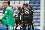 1-2, goal celebration by  Madger Gomes of Doncaster Rovers during the EFL Cup match between Blackburn Rovers and Doncaster Rovers at Ewood Park, Blackburn, England on 29 August 2020.