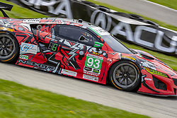 May 6, 2018 - Lexington, Ohio, United States of America - The Michael Shank Racing Acura NSX GT3 car races through the turns during the the Acura Sports Car Challenge at Mid Ohio Sports Car Course in Lexington, Ohio. (Credit Image: © Walter G Arce Sr Asp Inc/ASP via ZUMA Wire)