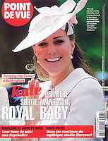 Point De Vue Cover: The Duchess of Cambridge attends Trooping the Colour in London, UK, on the 15th June 2013<br /> <br /> Picture by James Whatling