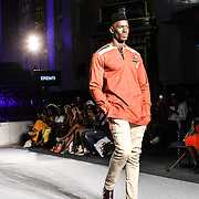 Designer Erenti showcases its latest collection at the Africa Fashion Week London (AFWL) at Freemasons' Hall on 11 August 2018, London, UK.