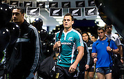Israel Dagg arrives with the team for the pool session. Rugby - All Blacks pool session at QEII pool, Christchurch. Monday 2 August 2010. Photo: Joseph Johnson/PHOTOSPORT