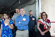 Attendees listen to a speech by SWENSON owner, Barry Swenson, during SVBJ's BizMix presented by SWENSON at The Grad in Downtown San Jose, California, on July 31, 2019. (Stan Olszewski for Silicon Valley Business Journal)