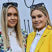 Olivia Minns and Alice Minns attend Street style - LFW AW20 Day 1 at Strand, London, UK. 14 Feb 2020