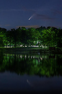 Comet Neowise in the sky over the lake at Fancher-Davidge Park in Middletown, N.Y., on July 14, 2020.