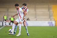 Scunthorpe United Aaron Jarvis (19) Scunthorpe United Alex Gilliead (8) battles for possession during the EFL Sky Bet League 2 match between Scunthorpe United and Leyton Orient at the Sands Venue Stadium, Scunthorpe, England on 5 December 2020.