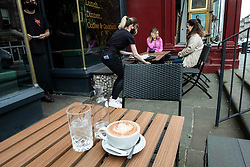 """The New Town Fox on Edinburgh's Dundas Street was open for business today for the first time in months like many bars and resaurants in Scotland.<br /> <br /> Manager Ethan Walch was pleasantly pleased to see so many customers stopping in for a meal or other refreshments. Ethan said: """"It felt like a quiet Wednesday before the pandemic.  Hopefully things will pick up more as customers see the precautions in place to avoid a second wave of Covid 19."""""""
